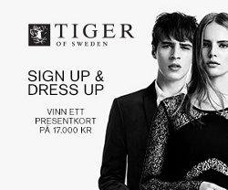 Vinn presentkort 17 000 kr från Tiger of Sweden