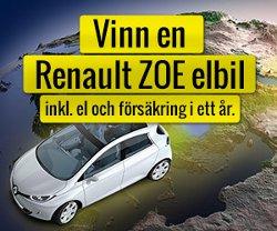Vinn en Renault ZOE elbil i ett år