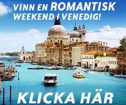 Vinn en romantisk semester till Venedig