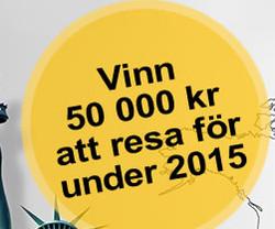 Vinn 50 000 kr att resa för under 2015