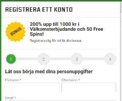 Få 50 gratis snurr och upp till 1000 kr i bonus vid insättning
