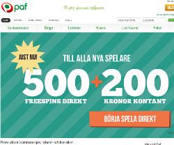 Få 500 freespins direkt och 200 kr kontant