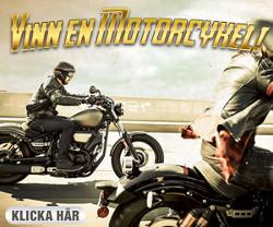 Vinn en ny motorcykel värd 100 000 kr