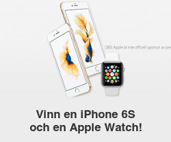 Vinn en iPhone 6S och en Apple Watch!