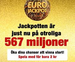 45 chanser att vinna 567 miljoner