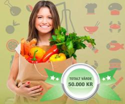 Vinn 4 000 kr till matvaror varje månad i ett helt år!